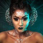 extreme visagie, alien make-up