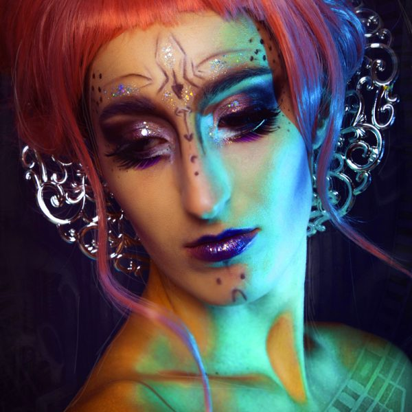 extreme visagie, alien make-up, out of space beauty