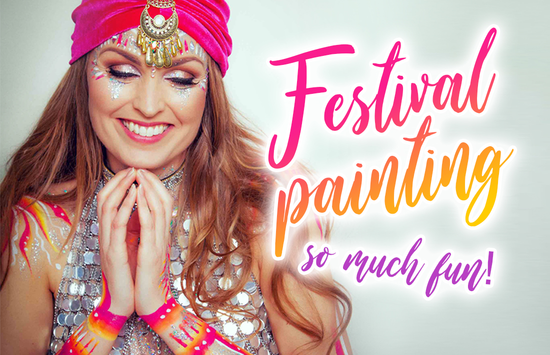 Partypainten, Festivalpaint, Facepaint, schminken